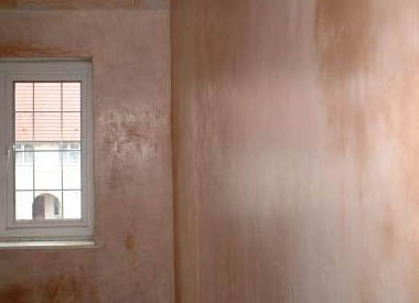 Smooth plastered walls ready to decorate